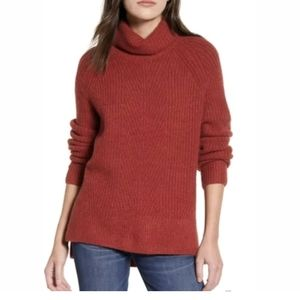 Madewell Small Turtleneck Oversized Pullover Sweat